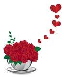 Rosa del rojo Fotografía de archivo
