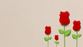 Rosa del rojo en fondo de la pared del cemento. Fotos de archivo