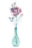 Rosa del rosa de la acuarela Fotografía de archivo libre de regalías
