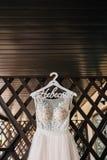 Rosa del vestido de boda fotos de archivo libres de regalías
