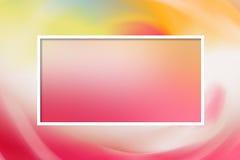 Rosa delikat pastellfärgad mall för ett kort Arkivfoto