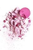 Rosa dell'ombretto su un fondo bianco Fotografia Stock Libera da Diritti