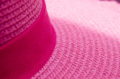 Rosa della corda del tessuto del cappello di struttura Fotografia Stock