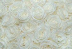 Rosa di bianco del mazzo Fotografia Stock Libera da Diritti