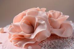 Rosa di crema per un dolce Fotografie Stock Libere da Diritti