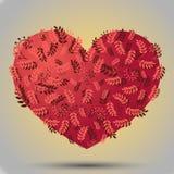 Rosa di erbe del cuore Immagini Stock