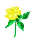 Rosa di giallo, dipingente Fotografie Stock