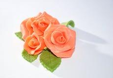 Rosa di marcipan Immagini Stock