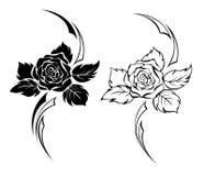 Rosa di monocromio due Fotografia Stock Libera da Diritti
