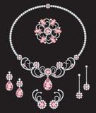 Rosa Diamantschmuck Lizenzfreie Stockbilder