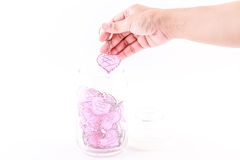 Rosa do fio do coração bonito Imagem de Stock Royalty Free