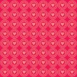Rosa do fundo do teste padrão do amor do ornamento ilustração royalty free