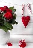 Rosa do vermelho do dia de Valentim Fotografia de Stock