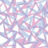 Rosa do vetor e fundo sem emenda geométrico azul do teste padrão, projeto do triângulo Artigos de papelaria de papel do envolvime ilustração do vetor