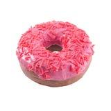 Rosa Donut lokalisiert Stockbild