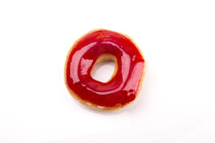 Rosa Donut lokalisiert auf weißem Hintergrund lizenzfreie stockfotografie