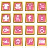 Rosa dos ícones do tênis ilustração do vetor