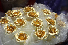 A Rosa dourada Fotografia de Stock Royalty Free