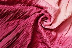 Rosa drapierter Hintergrund Stockfoto