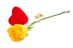Rosa e amor Foto de Stock Royalty Free