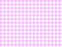 Rosa e bianco del modello della tovaglia Fotografia Stock Libera da Diritti