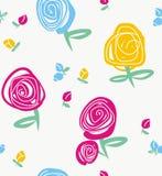 Rosa e botões Fotografia de Stock