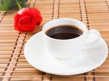 Rosa e caffè Fotografia Stock Libera da Diritti