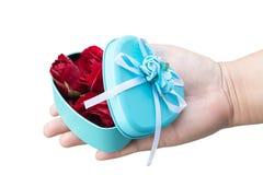 Rosa e coração Fotos de Stock Royalty Free
