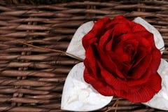 Rosa e corações Fotografia de Stock