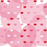 Rosa e corações simples vermelhos no fundo sem emenda Imagem de Stock Royalty Free