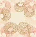 Rosa e elemento arenoso da flor do vintage ilustração do vetor