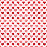 Rosa e fondo piacevole rosso del biglietto di S. Valentino Immagine Stock Libera da Diritti