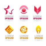 Rosa e laranja do ícone do logotipo Imagens de Stock