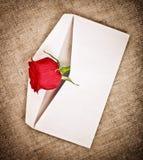 Rosa e letra vermelhas fotos de stock