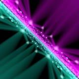 Rosa e linhas verdes modernos abstratos fora da rendição do fundo 3d do foco Imagens de Stock