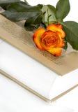Rosa e livro Imagem de Stock Royalty Free
