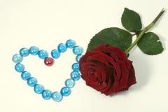Rosa e pedras Imagem de Stock Royalty Free