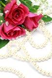 Rosa e perla Fotografia Stock
