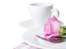 Rosa e placa Fotografia de Stock
