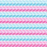 Rosa e teste padrão de ziguezague sem emenda geométrico azul fundo do teste padrão da viga, papel de envolvimento, teste padrão d ilustração stock