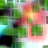 Rosa e verde, fondo geometrico Immagini Stock