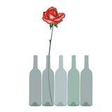 Rosa e vino Illustrazione Vettoriale