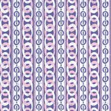 Rosa e Violet Abstract Geometric Retro Pattern Illustrazione Vettoriale