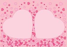 Rosa Entwurf des Herzens auf rosa Hintergrund lizenzfreie abbildung