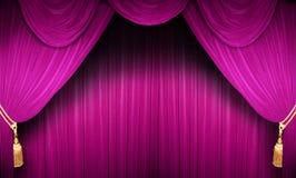 rosa etappteater Arkivfoto