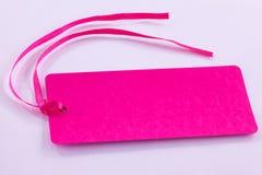 rosa etikett Arkivbilder