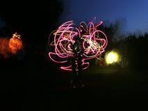 Rosa Explosion Stockbilder