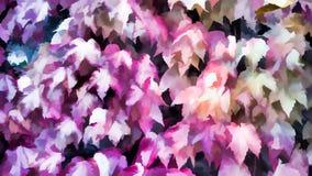Rosa färbte Blätter des Herbst Herbsthintergrundes, Farben des Falles lizenzfreie stockfotografie
