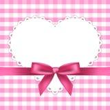 Rosa färg inramar med hjärta stock illustrationer
