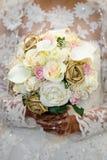 Rosa färg-, kräm- och vitbukett Fotografering för Bildbyråer